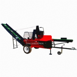 27Ton Automatic Firewood Processor Log Splitter Wood Processor Gasoline Engine with Hydraulic Conveyor