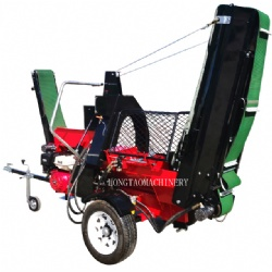 Best Quality Automatic 20Ton Gasoline Wood Processor with Conveyor Log Splitter
